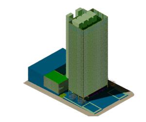 طراحی 3بعدی اتوکد برج اداری و تجاری