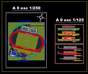 طراحی کامل ورزشگاه فوتبال به همراه سازه