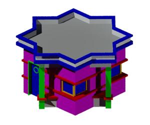 طراحی سه بعدی اتوکد نماز خانه (رایگان)