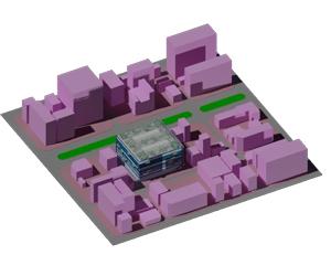 طراحی سه بعدی اتوکد ساختمان تجاری