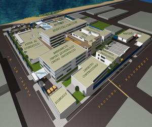 پروژه کامل بیمارستان پلان طبقات،نما،رندر های 3بعدی