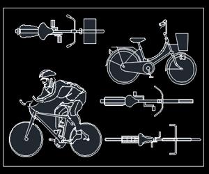 سمپل آماده اتوکد دوچرخه (رایگان)