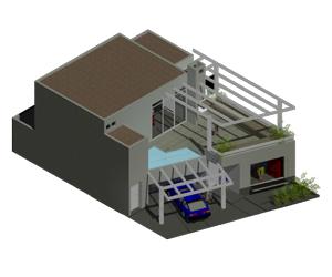 پروژه کامل خانه ویلایی دوبلکس پلان،نما،برش،فایل3بعدی در اتوکد 5رندر خارجی