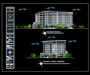 طرحی هتل 4 ستاره (پلان-نما-برش)