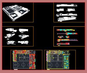 طراحی کامل آکادمی بزرگ تخصصی ورزشی پلان،نما،برش،پرسپکتیو