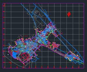 دانلود رایگان فایل اتوکد نقشه شهر ابهر