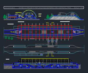 طراحی کامل راه آهن شهری(اتوکد)