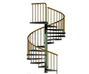 طراحی 3بعدی اتوکد پله گرد (به همراه رندر)