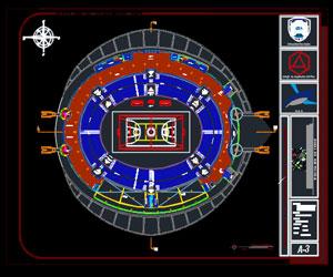 طراحی ورزشگاه چندمنظوره ورزشی با 3طبقه جایگاه تماشاگر