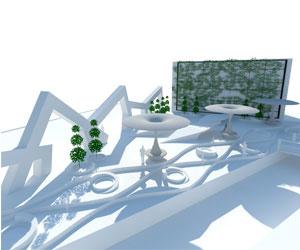 طراحی سه بعدی پارک محلی در SketchUp