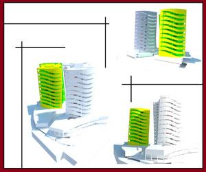 3بعدی برج های دو قلو در اسکچاپ