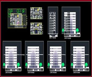 طراحی پلان کلينيک تخصصی به همراه نما و مقطع