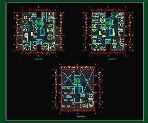 طراحی پلان اداری شرکت معماری