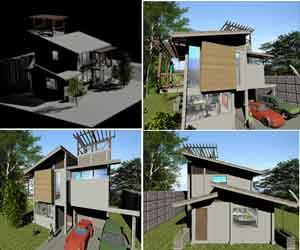 دانلود طراحی 3بعدی خانه ویلایی در اتوکد