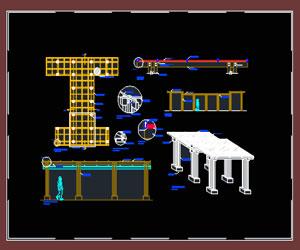 طراحی اتوکدی کامل ورودی کلاسیک