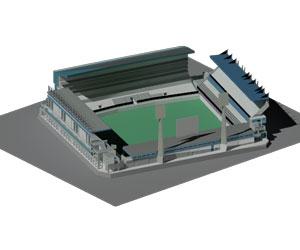 طراحی 3بعدی اتوکد استادیوم ورزشی