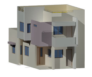 طراحی 3بعدی اتوکد خانه آپارتمانی